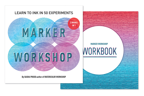 Marker Workshop (2 Books in 1): Learn to Ink in 50 Experiments Cover Image