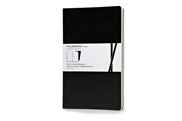 Moleskine Volant Notebook (Set of 2 ), Large, Plain, Black, Soft Cover (5 x 8.25) (Volant Notebooks) Cover Image