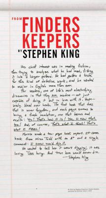 Finders Keepers Broadside (Stephen King) - IBD item Cover Image