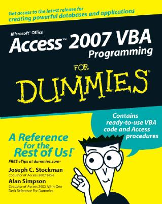 Access 2007 VBA Programming for Dummies Cover Image