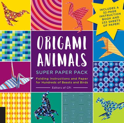 Origami Animals Super Paper Pack: Folding Instructions and Paper for Hundreds of Beasts and Birds--Includes a 32-page instruction book and 232 sheets of paper! (Origami Super Paper Pack) Cover Image