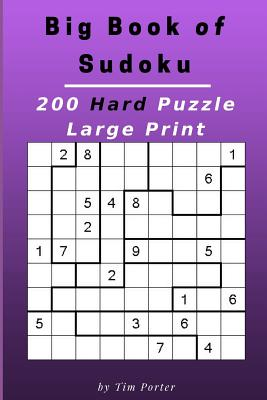 Big Book of Sudoku: 200 Hard Puzzle Large Print (Brain Games) Cover Image
