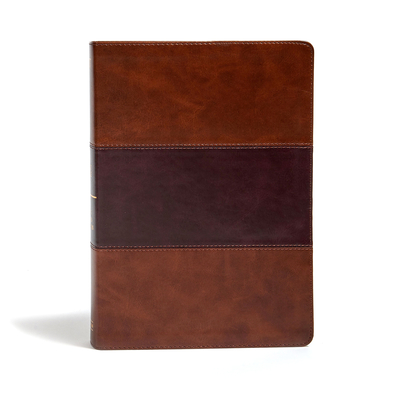 Cover for KJV Super Giant Print Reference Bible, Saddle Brown LeatherTouch