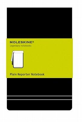 Moleskine Reporter Notebook, Large, Plain, Black, Hard Cover (5 x 8.25) (Reporter Notebooks) Cover Image
