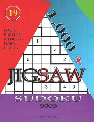 1,000 + sudoku jigsaw 9x9: Logic puzzles medium - hard levels Cover Image