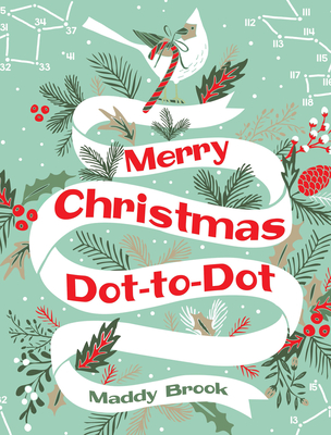 Merry Christmas Dot-To-Dot Coloring Book Cover Image