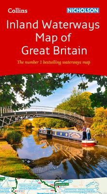 Collins Nicholson Inland Waterways Map of Great Britain Cover Image