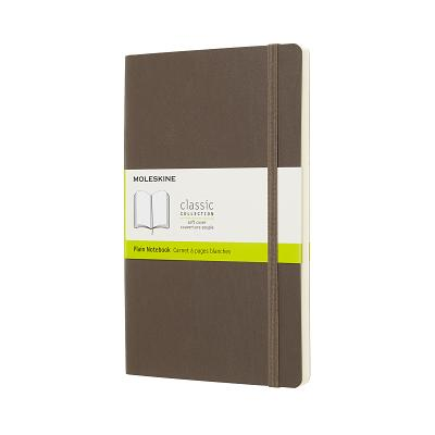 Moleskine Classic Notebook, Large, Plain, Brown Earth, Soft Cover (5 x 8.25) Cover Image