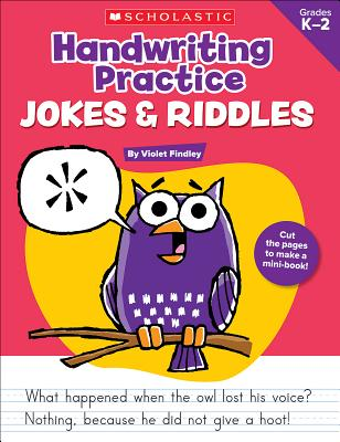 Handwriting Practice: Jokes & Riddles Cover Image