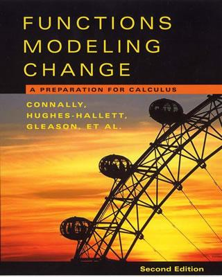 Functions Modeling Change: A Preparation for Calculus Cover Image
