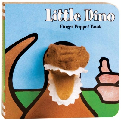 Little Dino: Finger Puppet Book: (Puppet Book for Baby, Little Dinosaur Board Book) (Little Finger Puppet Board Books) Cover Image