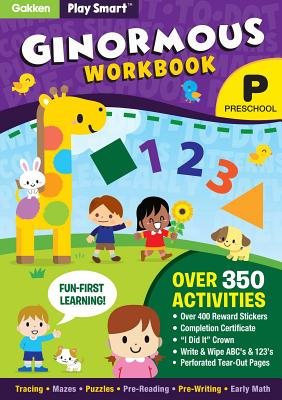 Play Smart Ginormous Workbook - Preschool Ages 2-4: At-home Activity Workbook Cover Image