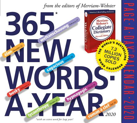 365 New Words-A-Year Page-A-Day Calendar 2020 Cover Image