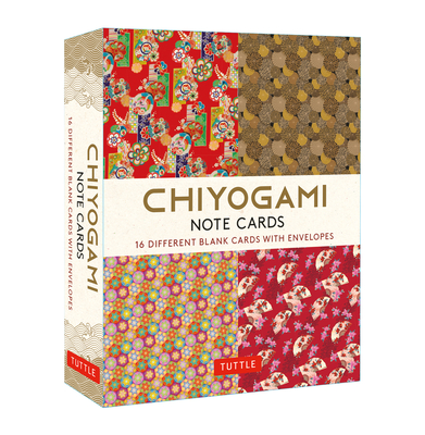 Chiyogami Japanese, 16 Note Cards: 16 Different Blank Cards with 17 Patterned Envelopes Cover Image