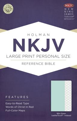 Cover for NKJV Large Print Personal Size Reference Bible, Mint Green LeatherTouch, Indexed