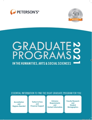 Graduate Programs in the Humanities, Arts & Social Sciences 2021 Cover Image