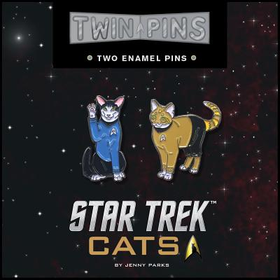 Star Trek Cats Twin Pins: Two Enamel Pins Cover Image