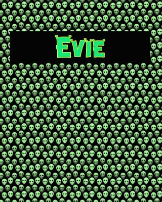 120 Page Handwriting Practice Book with Green Alien Cover Evie: Primary Grades Handwriting Book Cover Image