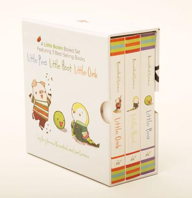 A Little Books Boxed Set Featuring Little Pea  Little Hoot  Little Oink: (Baby Board Books, Nursery Rhymes, Children's Book Sets, Nursery Books) Cover Image