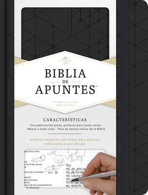 RVR 1960 Biblia de apuntes, negro símil piel Cover Image