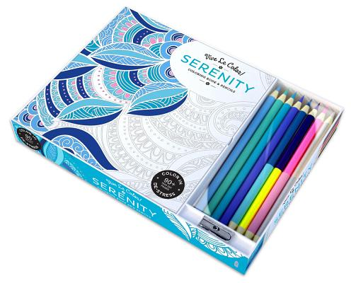 Vive Le Color! Serenity (Adult Coloring Book and Pencils): Color Therapy Kit Cover Image