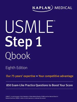 USMLE Step 1 Qbook: 850 Exam-Like Practice Questions to Boost Your Score (USMLE Prep) Cover Image