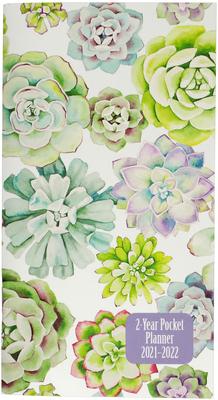 2021-22 Succulent Garden 2-Year Pocket Planner Cover Image