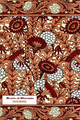 Hearts of Blossoms NOTEBOOK [ruled Notebook/Journal/Diary to write in, 60 sheets, Medium Size (A5) 6x9 inches] Cover Image