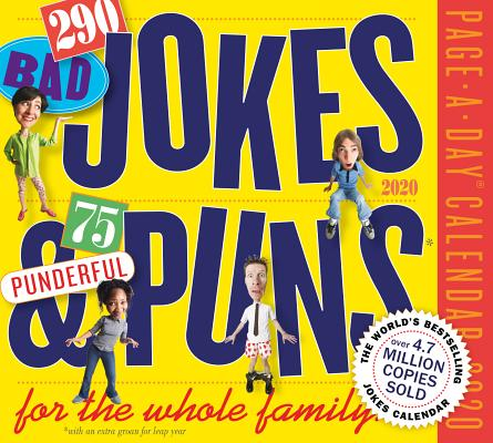 290 Bad Jokes & 75 Punderful Puns for the Whole Family Page-A-Day Calendar 2020 Cover Image