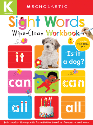 Sight Words: Scholastic Early Learners (Wipe-Clean Workbook) Cover Image