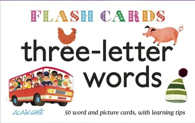 Three-Letter Words - Flash Cards Cover Image