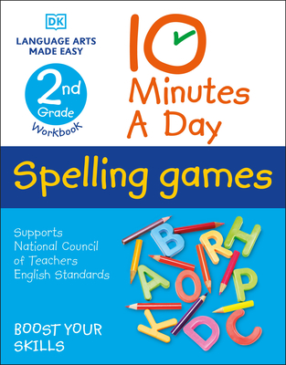 10 Minutes a Day Spelling Games, 2nd Grade Cover Image