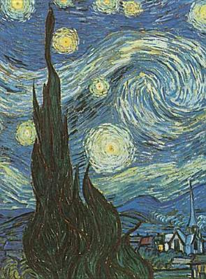 Van Gogh's Starry Night Notebook Cover Image