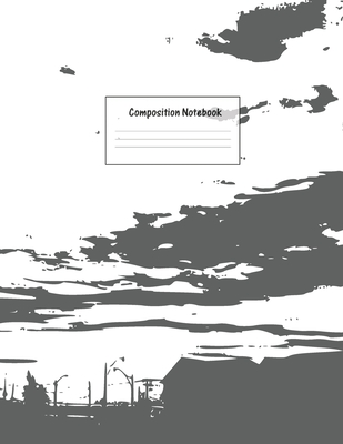 Composition Notebook: Wide Ruled Lined Paper: Large Size 8.5x11 Inches, 110 pages. Notebook Journal: Black and White Frame Workbook for Pres Cover Image