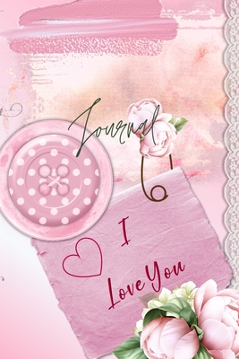 Journal for Women For Girls For Moms 122 pages 6x9 Inches: pink flower themed pages Cover Image