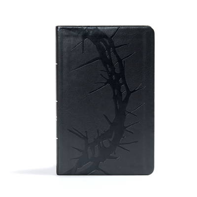 CSB Ultrathin Reference Bible, Charcoal Leathertouch Cover