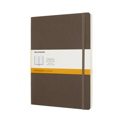 Moleskine Classic Notebook, Extra Large, Ruled, Brown Earth, Soft Cover (7.5 x 9.75) Cover Image