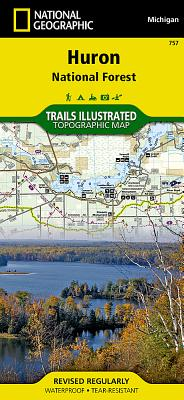Huron National Forest, Michigan, USA Outdoor Recreation Map (National Geographic Maps: Trails Illustrated #757) Cover Image