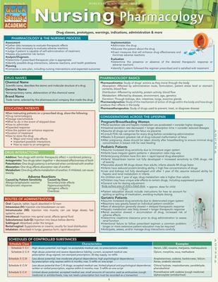 Nursing Pharmacology (Quick Study: Academic) Cover Image