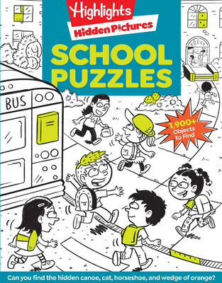 School Puzzles (Highlights Hidden Pictures) Cover Image