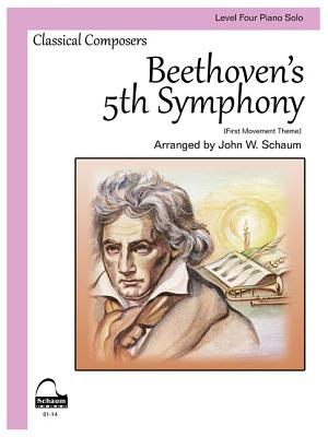 Beethoven's 5th Symphony: Schaum Level 4 Piano Solo Cover Image