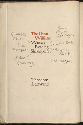 The Great William: Writers Reading Shakespeare Cover Image