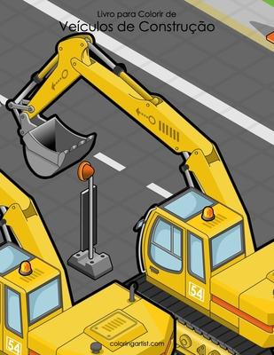 Livro para Colorir de Veículos de Construção Cover Image