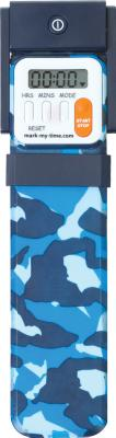 Mark-My-Time Blue Camoflauge Digital Booklight: Timer Cover Image