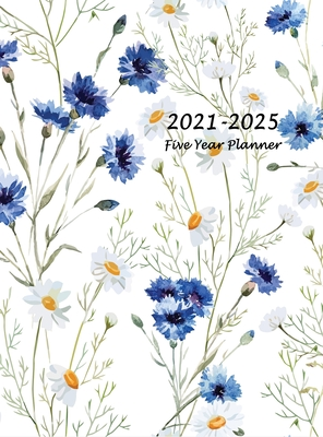 2021-2025 Five Year Planner: 60-Month Schedule Organizer 8.5 x 11 with Beautiful Coloring Pages (Hardcover Volume 1) Cover Image