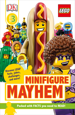 DK Readers Level 3: LEGO Minifigure Mayhem: Discover LEGO facts, jokes, challenges, and more! Cover Image