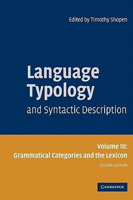 Language Typology and Syntactic Description, Volume 3 Cover