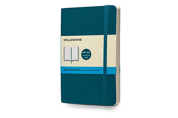 Moleskine Classic Colored Notebook, Pocket, Dotted, Underwater Blue, Soft Cover (3.5 x 5.5) Cover Image