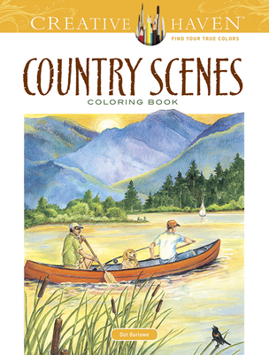 Country Scenes Coloring Book (Creative Haven Coloring Books) Cover Image