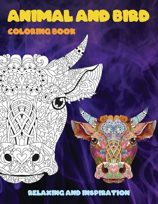 Animal and Bird - Coloring Book - Relaxing and Inspiration Cover Image